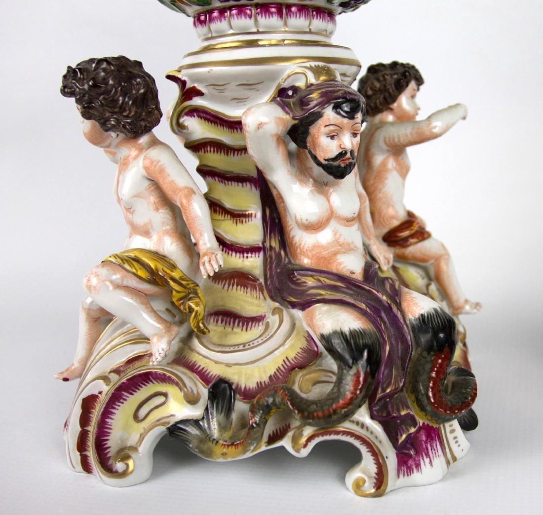 A 24-INCH CAPO DI MONTE TYPE COVERED VASE AS FOUND - 10
