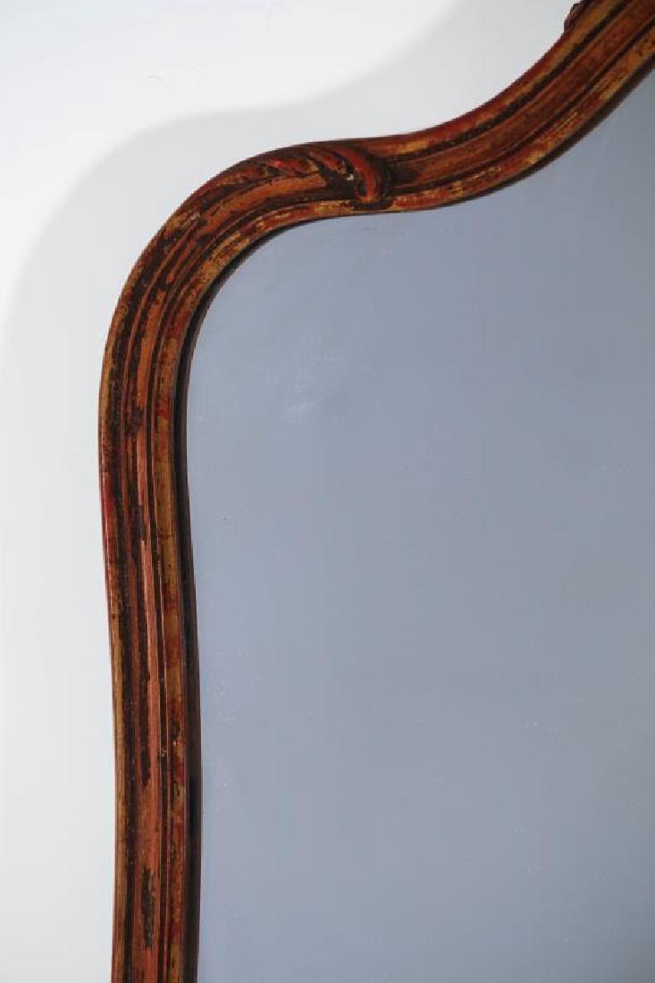 A CIRCA 1920 WALL HANGING MIRROR - 6
