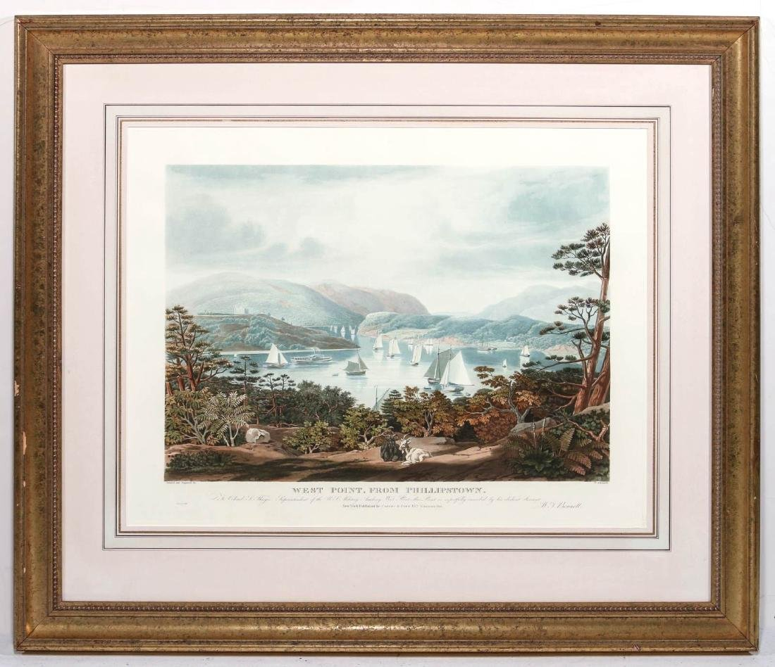 A LATE 20TH C PRINT: WEST POINT, FROM PHILLIPSTOWN - 2