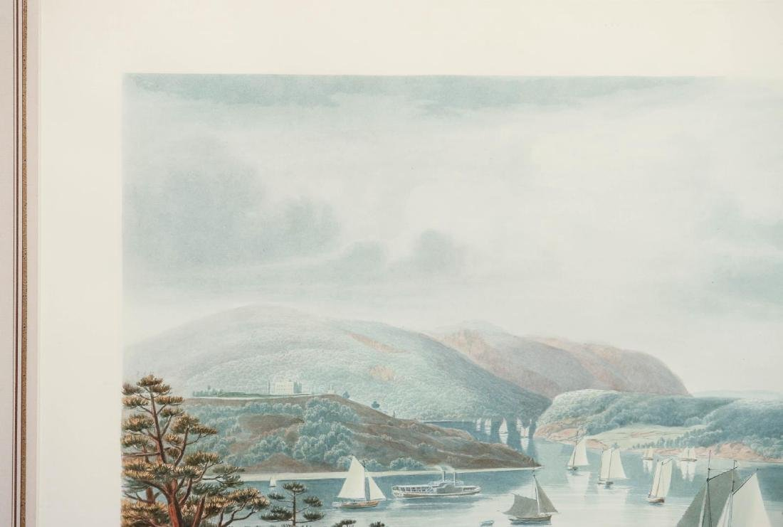 A LATE 20TH C PRINT: WEST POINT, FROM PHILLIPSTOWN - 3