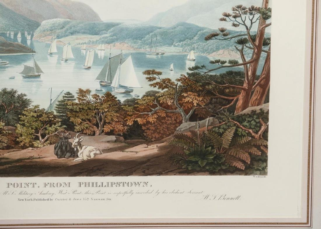 A LATE 20TH C PRINT: WEST POINT, FROM PHILLIPSTOWN - 5