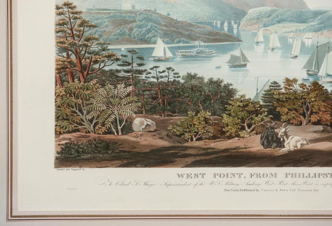 A LATE 20TH C PRINT: WEST POINT, FROM PHILLIPSTOWN - 6