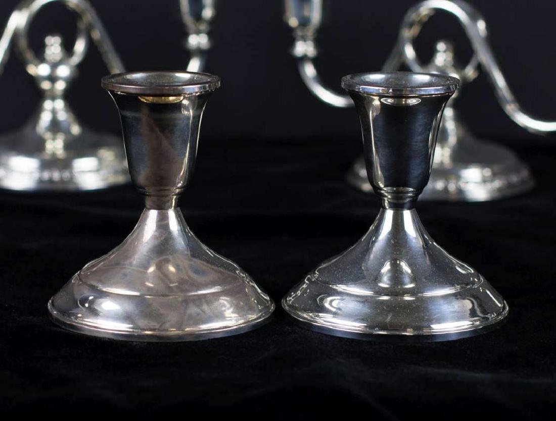 A COLLECTION OF 20TH C. STERLING SILVER CANDLE HOLDERS - 5