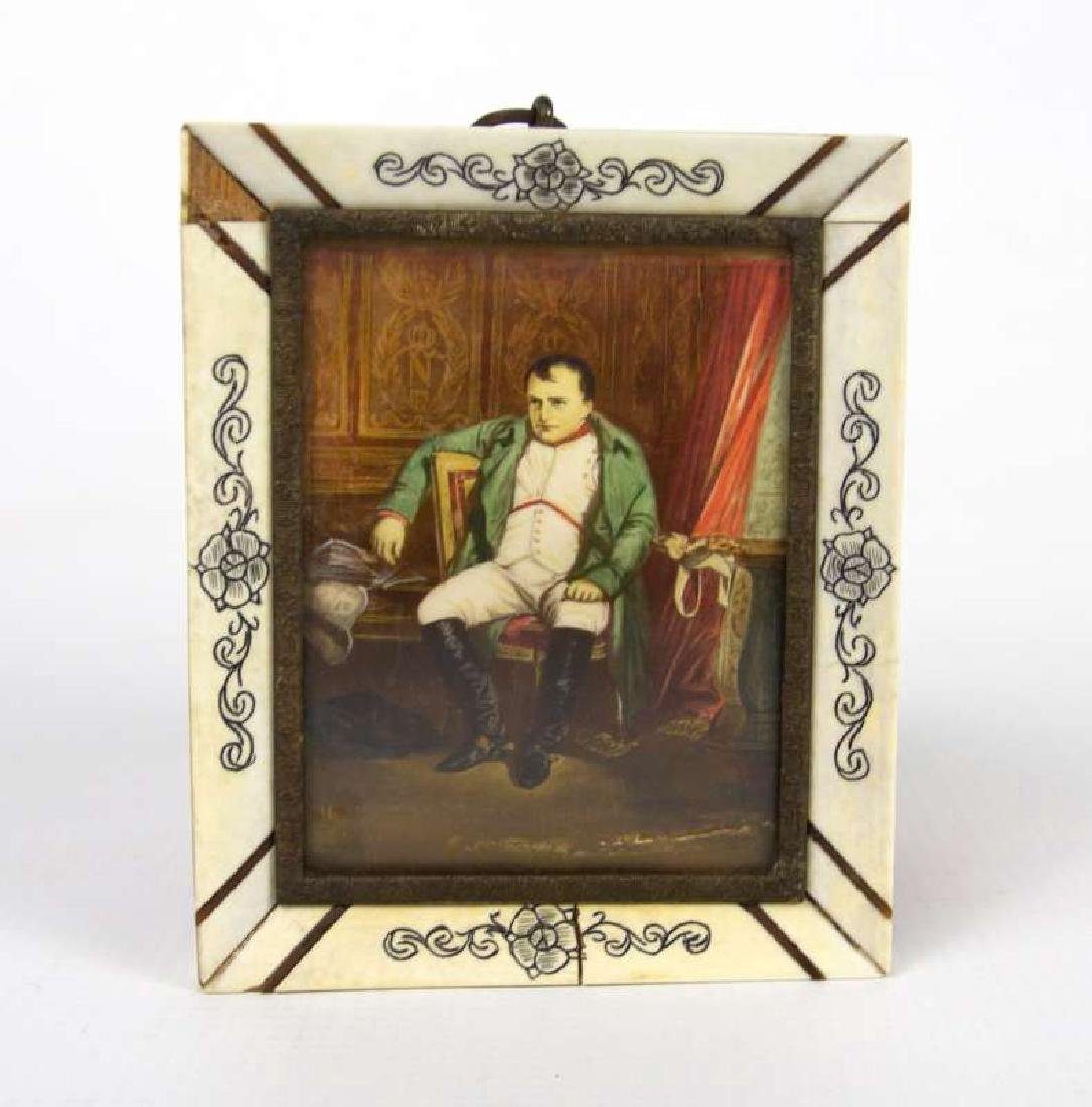 A MINIATURE PAINTING OF NAPOLEON AFTER DELAROCHE