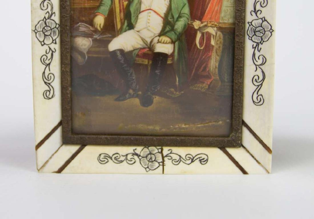 A MINIATURE PAINTING OF NAPOLEON AFTER DELAROCHE - 3