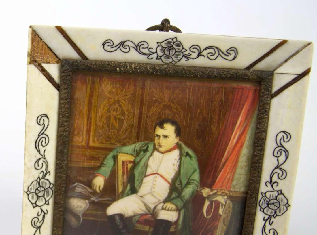 A MINIATURE PAINTING OF NAPOLEON AFTER DELAROCHE - 4