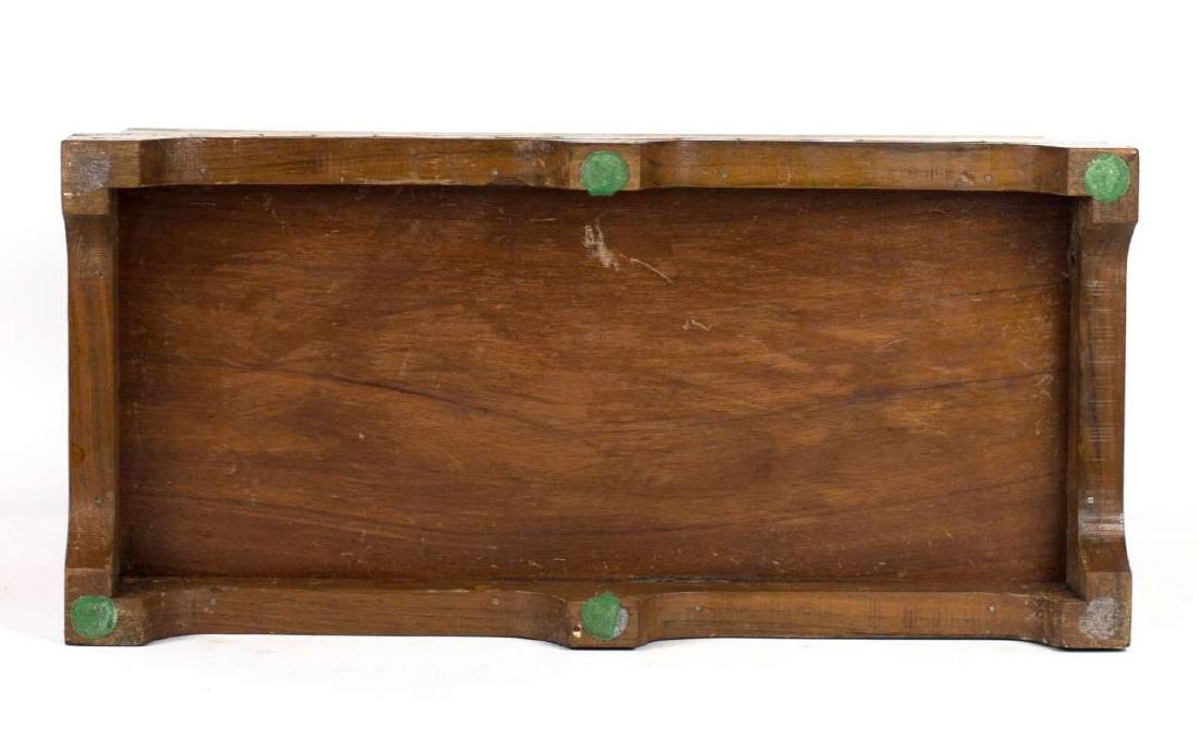 A CIRCA 1900 AMERICAN FOLK ART MARQUETRY BOX - 8
