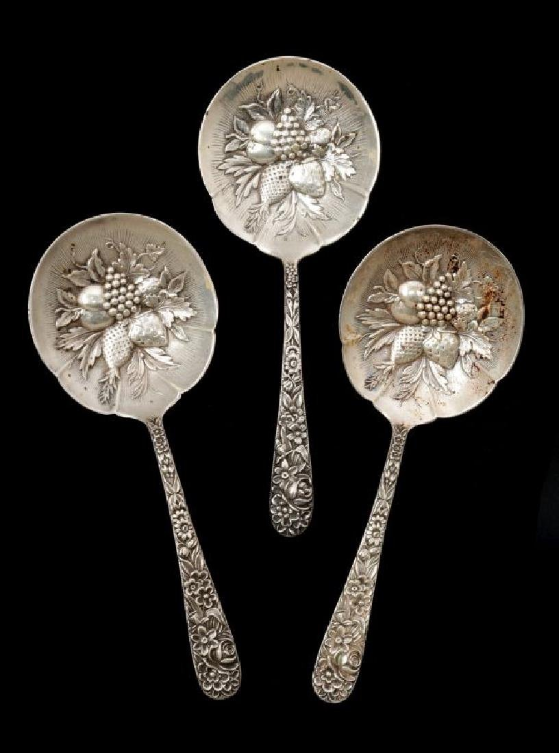 WHITING AND KIRK REPOUSSE PATTERN SPOONS - 2
