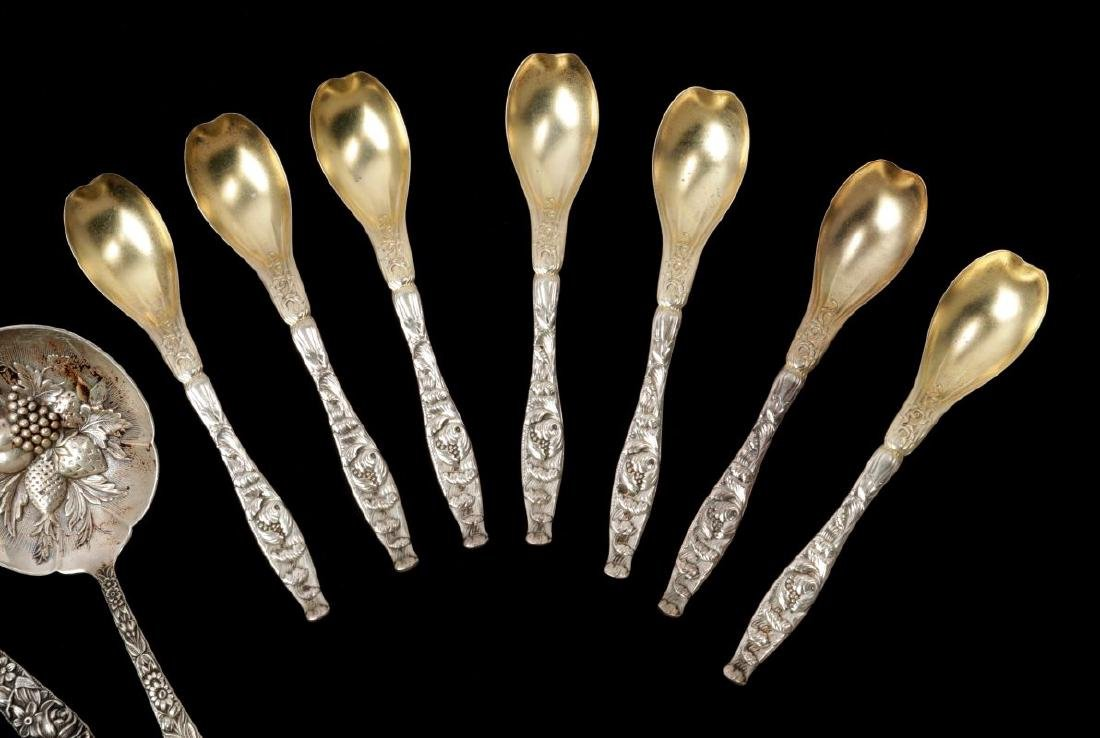 WHITING AND KIRK REPOUSSE PATTERN SPOONS - 3