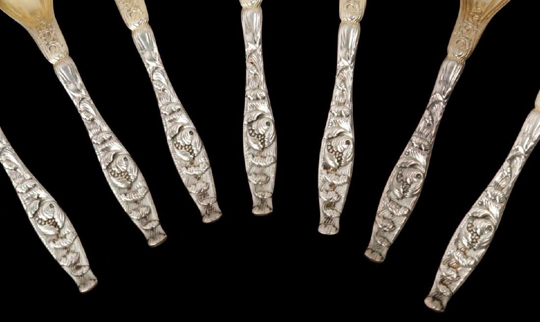 WHITING AND KIRK REPOUSSE PATTERN SPOONS - 4
