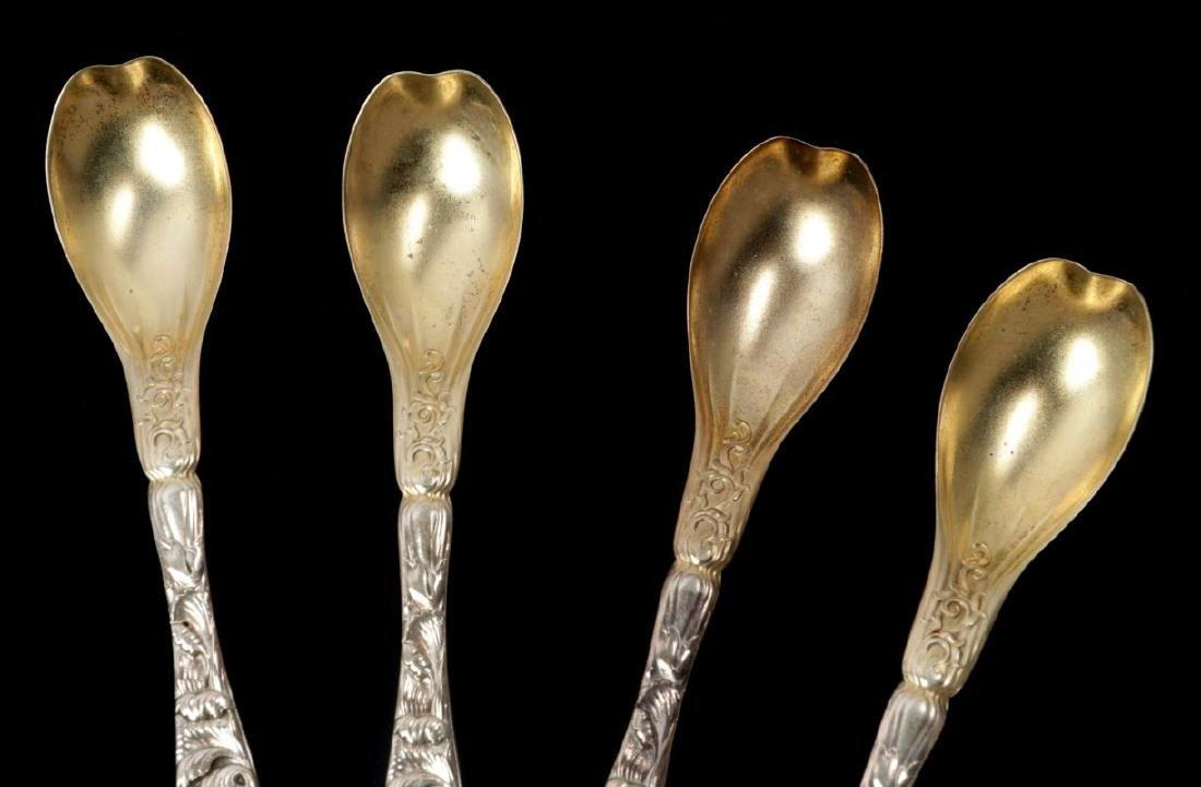 WHITING AND KIRK REPOUSSE PATTERN SPOONS - 5