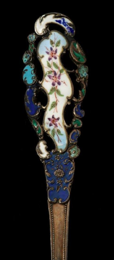 EDWARDIAN ENAMELED STERLING SILVER PIECES - 2