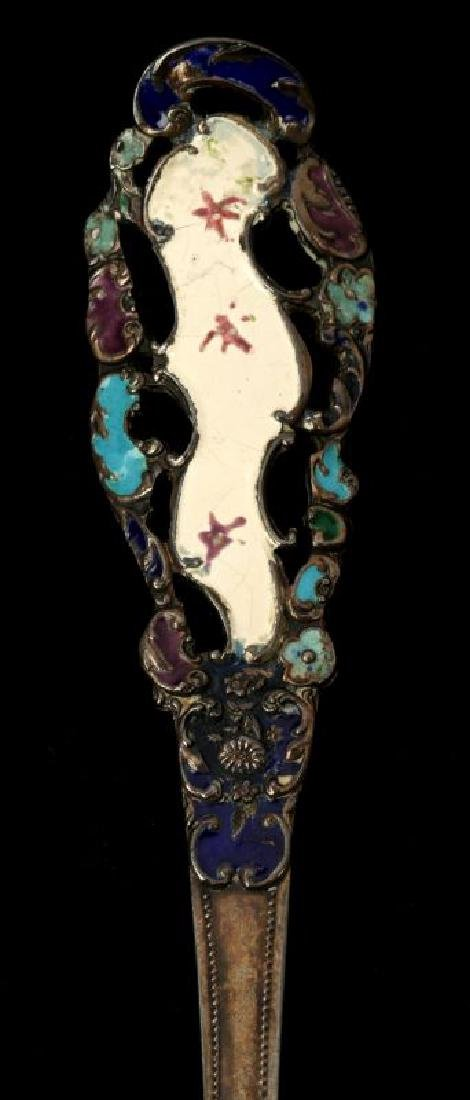 EDWARDIAN ENAMELED STERLING SILVER PIECES - 3