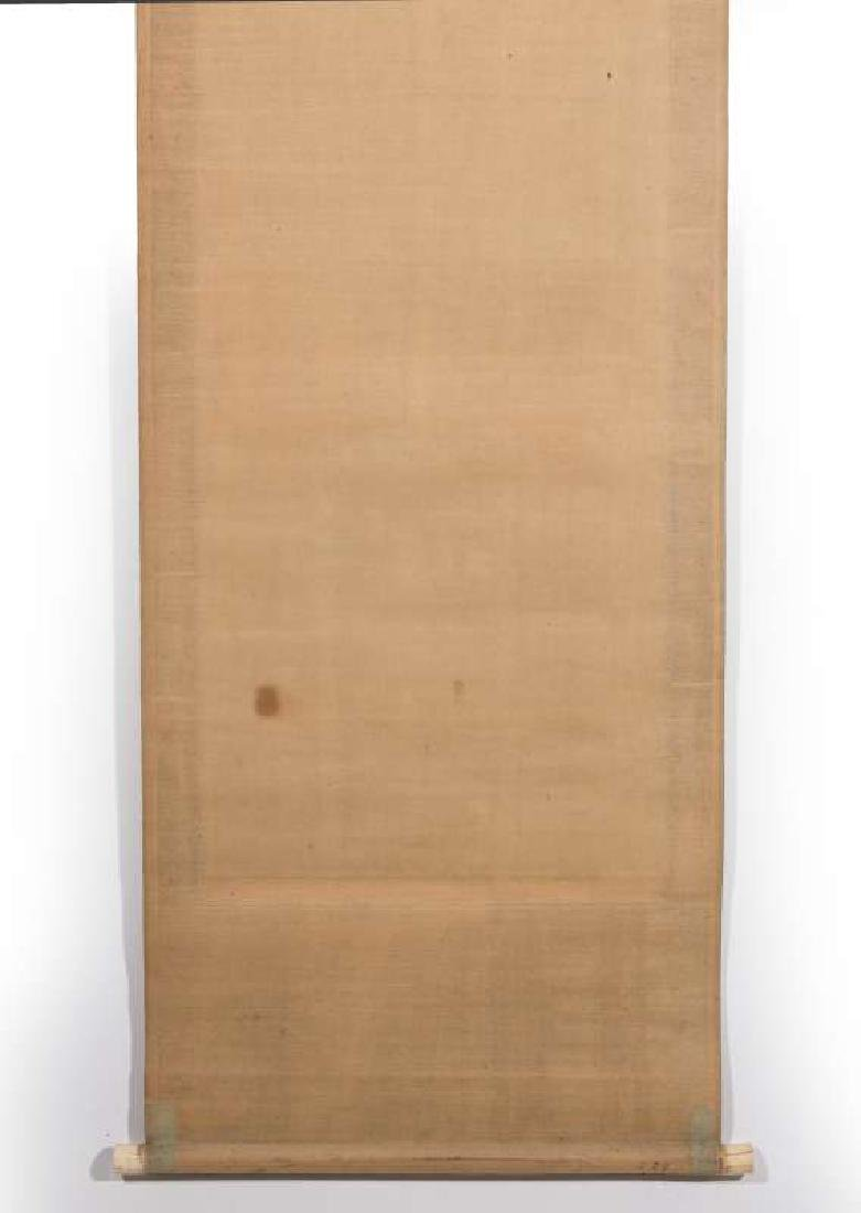 A GOOD EDO PERIOD JAPANESE SCROLL DATED 1860 - 8
