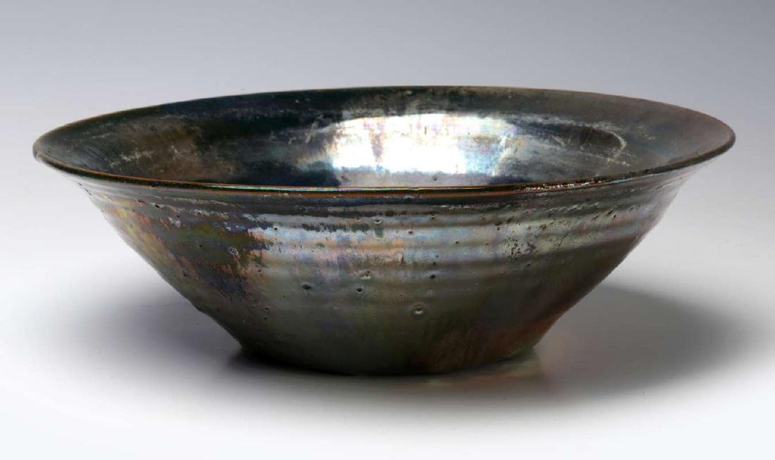 AN EARLY 20TH CENTURY PEWABIC POTTERY BOWL - 7