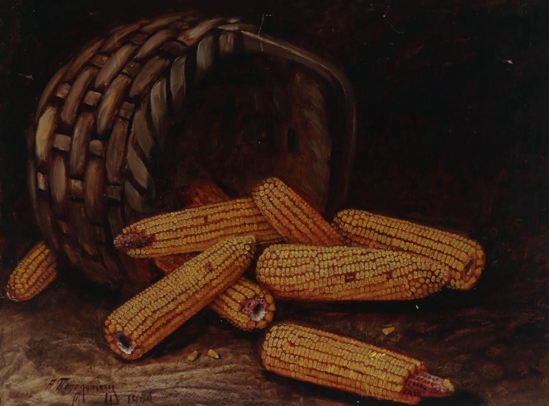 ALFRED MONTGOMERY (1857-1922) OIL ON ARTIST'S BOARD
