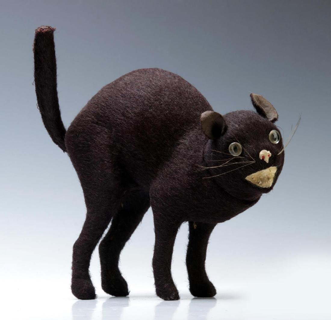 A RARE LARGE GERMAN BLACK CAT CANDY CONTAINER