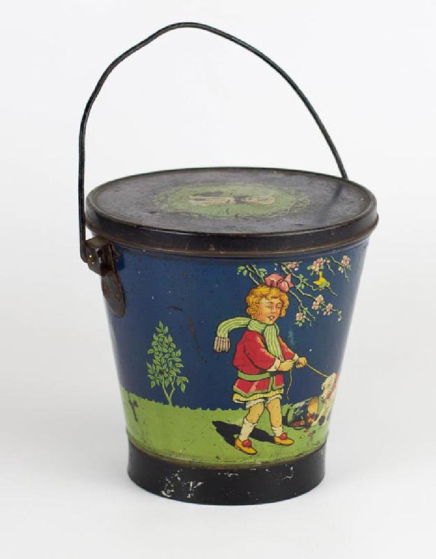 A TURNWRIGHT'S TOFFEE TIN LITHO CANDY PAIL