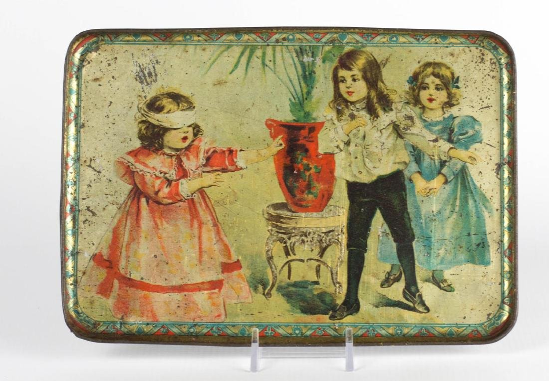 A 'BLIND MAN'S BLUFF' TIN LITHO CHILD'S TRAY