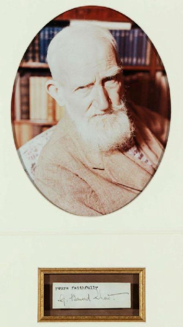 GEORGE BENARD SHAW AUTOGRAPH AND PHOTOGRAPH