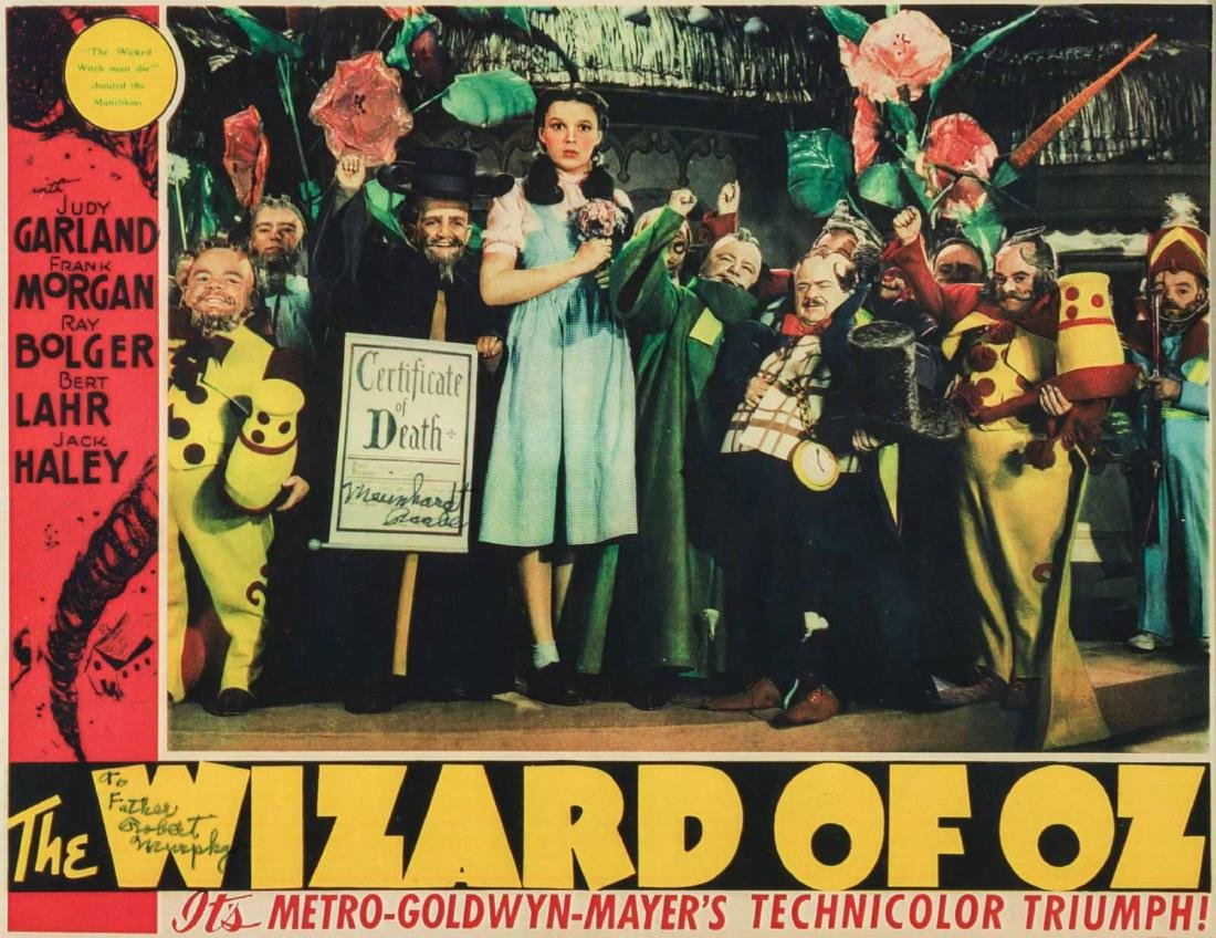 WIZARD OF OZ LOBBY CARD SIGNED BY MEINHARDT RAABE