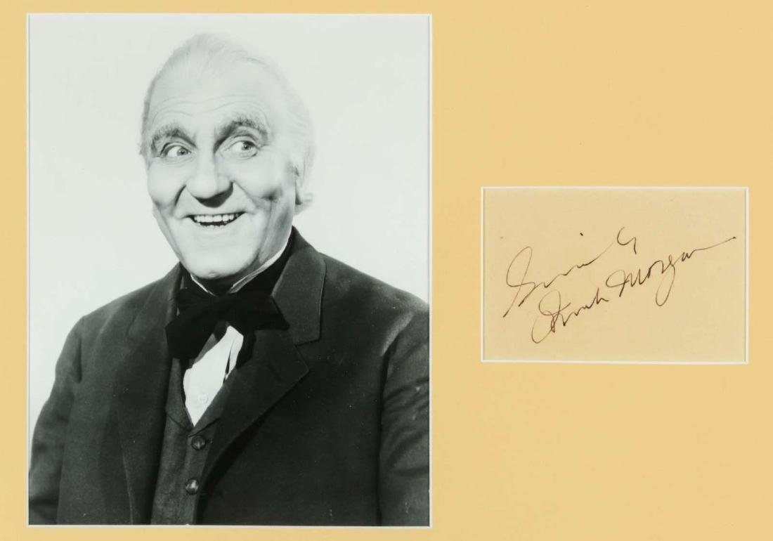 SIGNATURE OF ACTOR FRANK MORGAN, THE WIZARD OF OZ