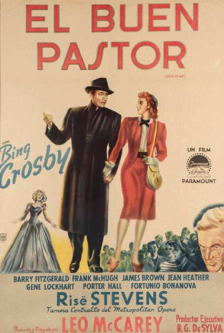 VINTAGE SPANISH MOVIE POSTER FOR 'GOING MY WAY'