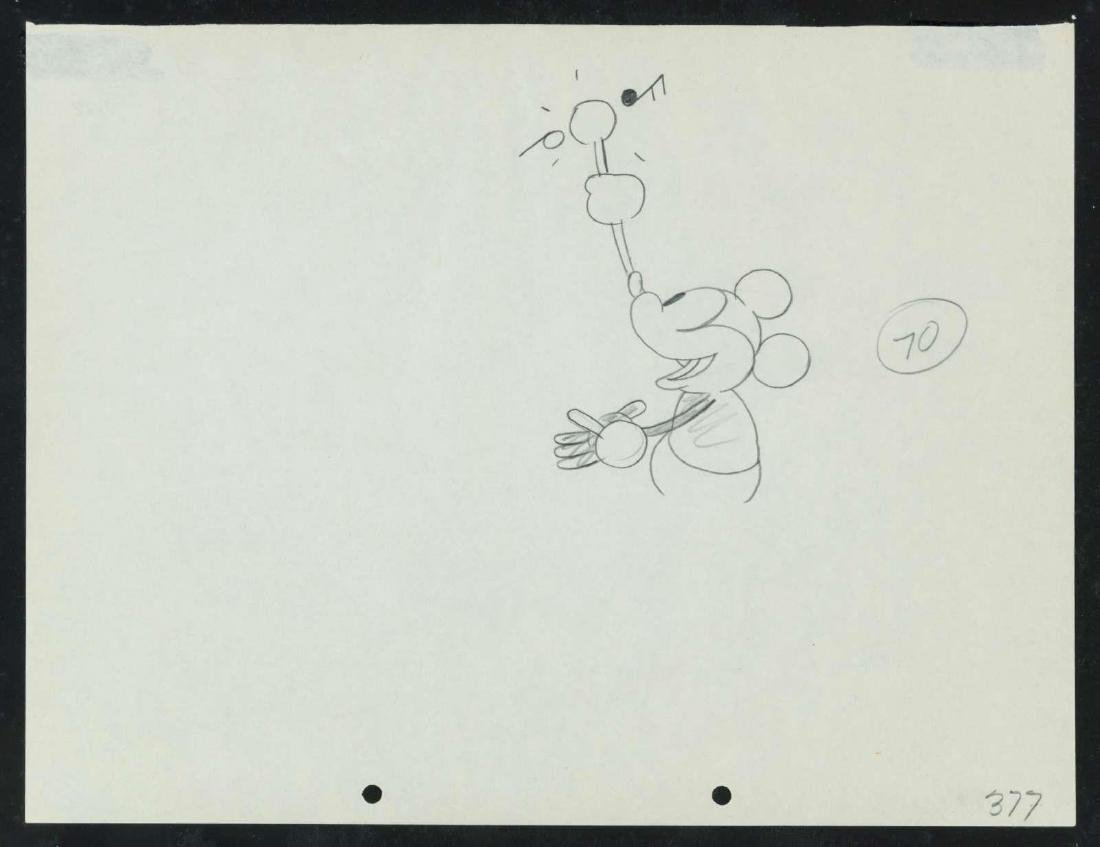 A RARE 1928 STEAMBOAT WILLIE PRODUCTION DRAWING