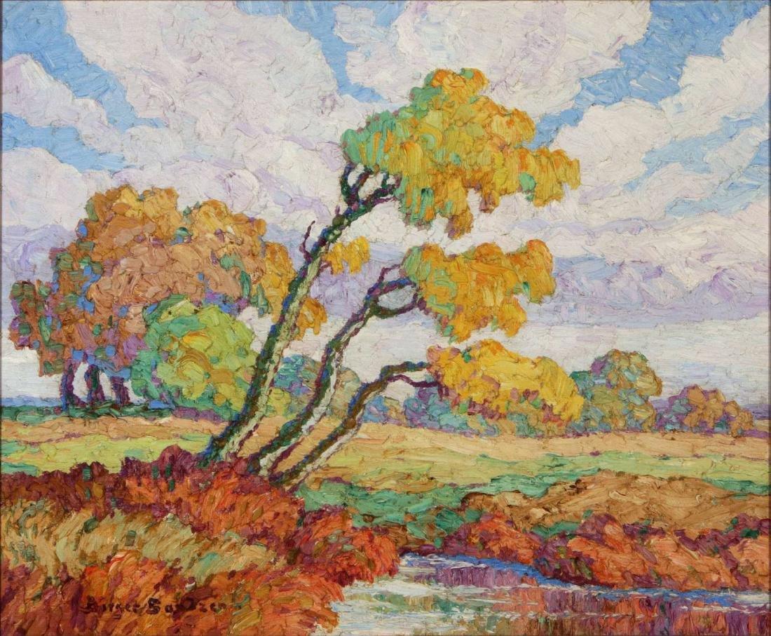 BIRGER SANDZEN (1871-1954) OIL ON BOARD, 1939