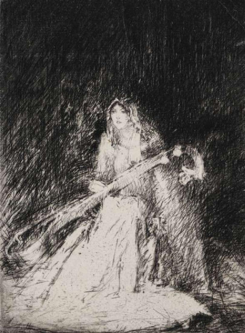 TROY KINNEY (1871-1938) PENCIL SIGNED ETCHING