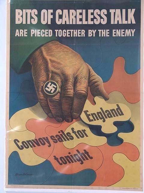 11: 1943 WORLD WAR II  POSTER CARELESS TALK