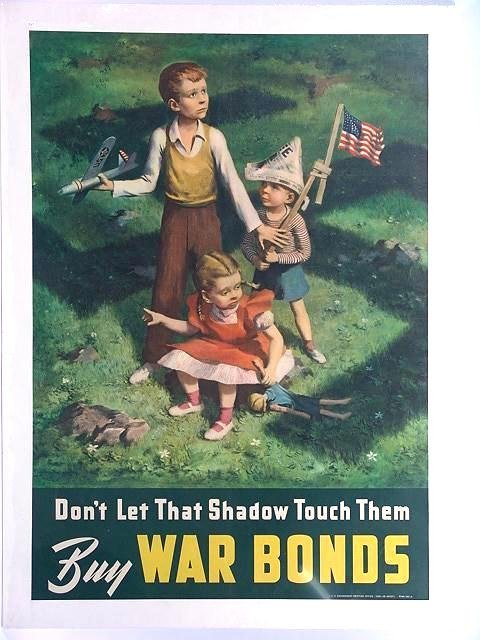 13: 1942 WAR BOND POSTER DON'T LET THAT SHADOW TOUCH TH