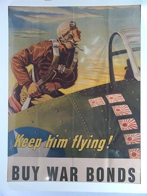 14: 1942 WAR BOND POSTER KEEP HIM FLYING