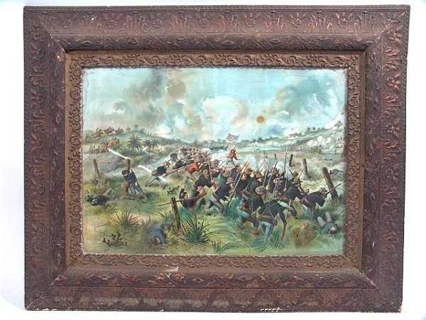 17: 1890'S MILITARY PRINT   STORMING SAN JUAN HILL