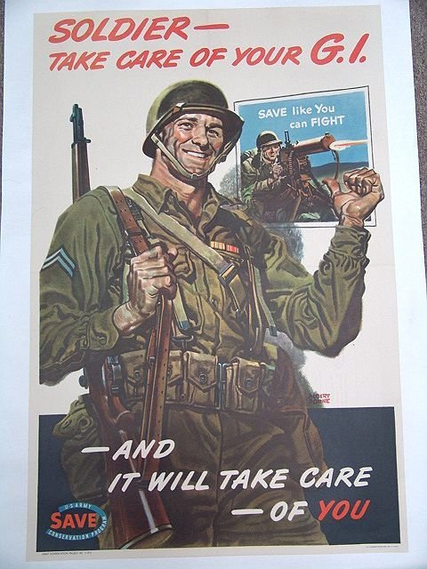 10A: WWII POSTER 'TAKE CARE OF YOUR GI'