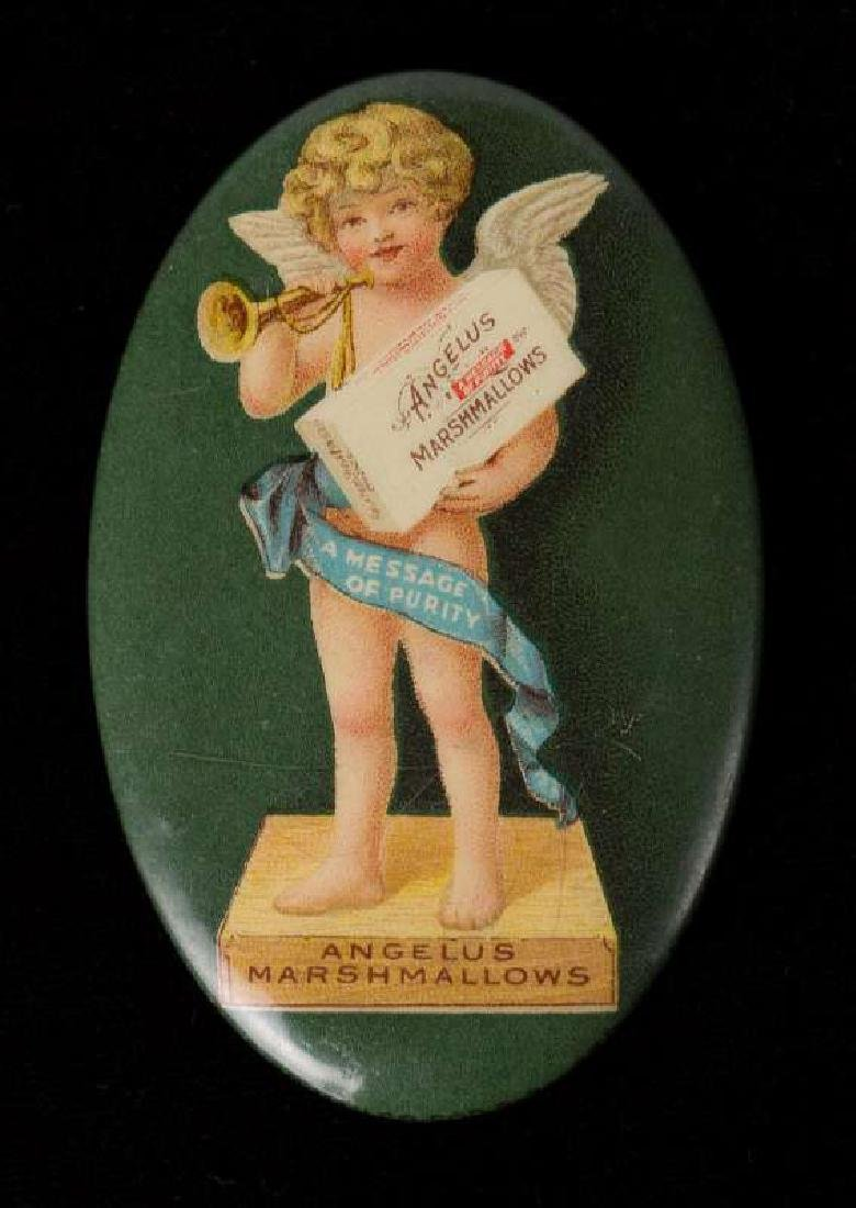 ANGELUS MARSHMALLOWS ADVERTISING POCKET MIRROR