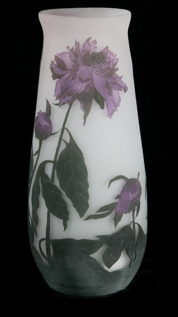 A FRENCH CAMEO GLASS VASE SIGNED ARSALL