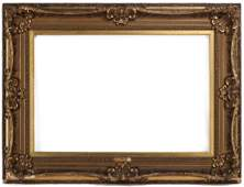 A LATE 19TH CENTURY LOUIS XV STYLE GILDED FRAME