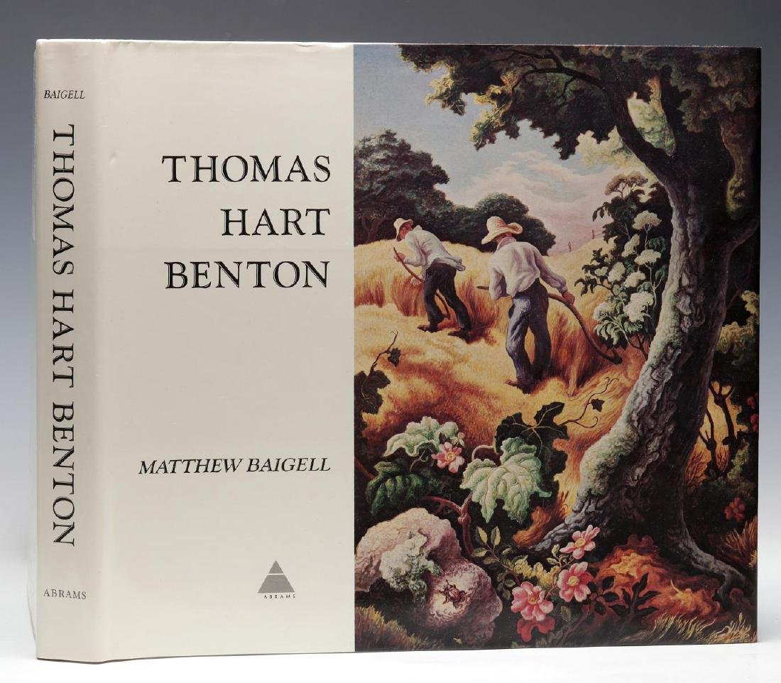 THOMAS HART BENTON SIGNED BOOK BY BAIGELL