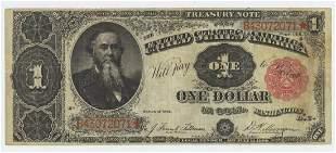 1891 STANTON ONE DOLLAR TREASURY NOTE