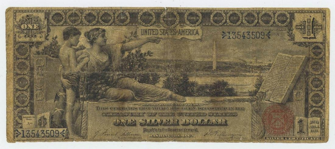1896 ONE DOLLAR SILVER CERTIFICATE EDUCATIONAL