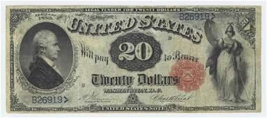 1880 TWENTY DOLLAR LEGAL TENDER NOTE