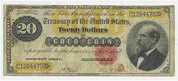 1882 TWENTY DOLLAR GOLD CERTIFICATE