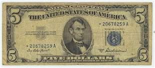 1953 FIVE DOLLAR STAR NOTE
