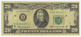 1963 TWENTY DOLLAR FEDERAL RESERVE STAR NOTE