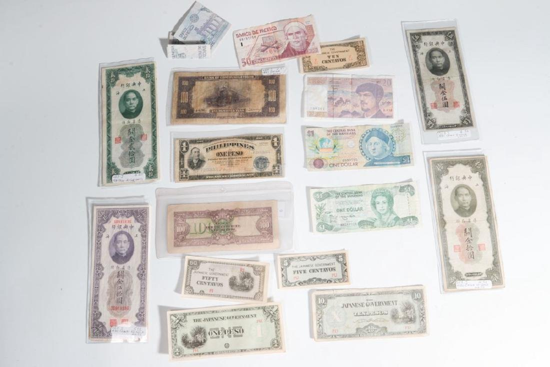 GROUP OF WWII ERA FOREIGN CURRENCY AND SCRIP