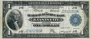 1918 ONE DOLLAR FEDERAL RESERVE NOTE KANSAS CITY