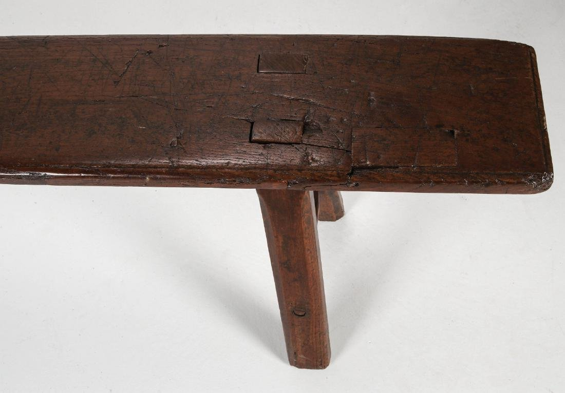 A EARLY 18TH / EARLY 19TH CENTURY PRIMITIVE BENCH - 2