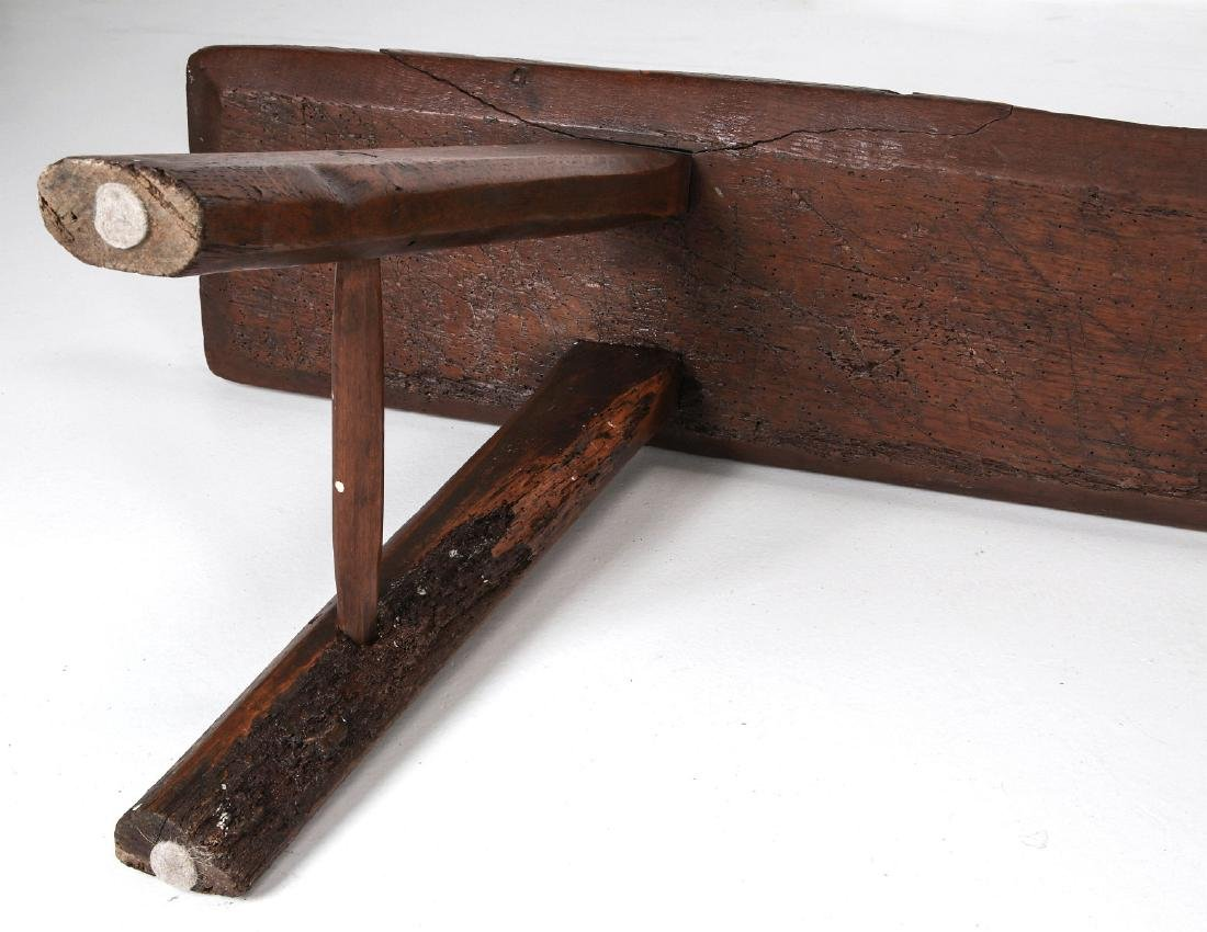 A EARLY 18TH / EARLY 19TH CENTURY PRIMITIVE BENCH - 7