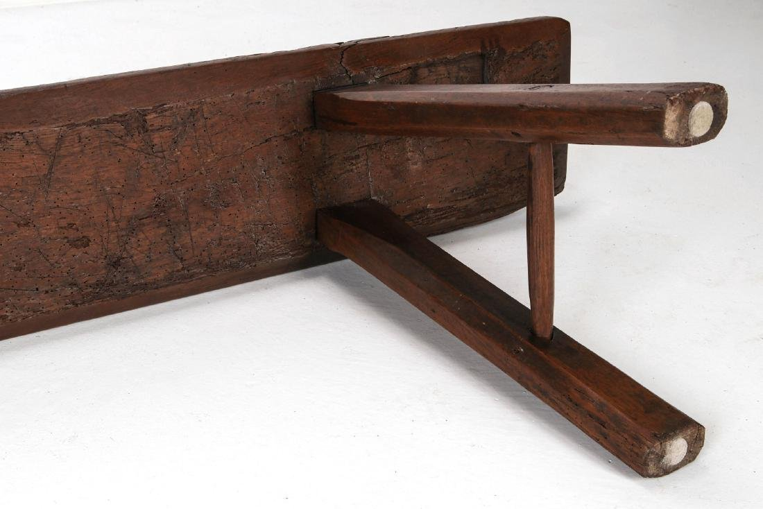 A EARLY 18TH / EARLY 19TH CENTURY PRIMITIVE BENCH - 8
